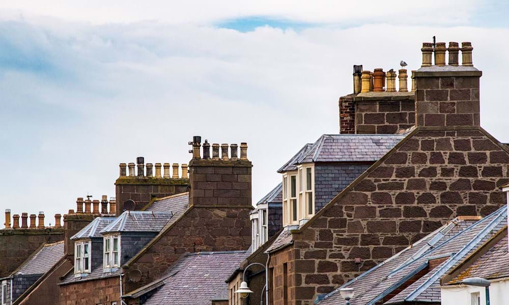 Rooftops of tenants homes